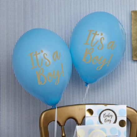 Baby Shower Blue, It's A Boy - pack of 8